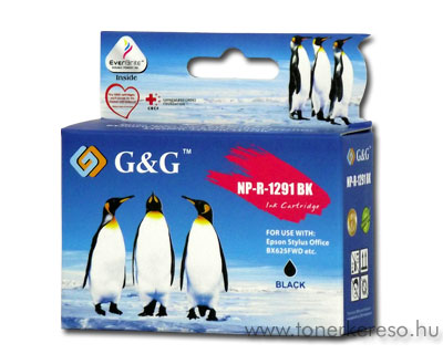 Epson T1291 fekete kompatibilis/utángyártott tintapatron G&G GGT Epson Stylus Office BX525WD tintasugaras nyomtatóhoz