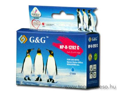 Epson T1292 cyan kompatibilis/utángyártott tintapatron G&G GGT12 Epson Stylus Office BX305F tintasugaras nyomtatóhoz