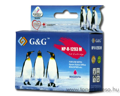 Epson T1293 magenta kompatibilis/utángyártott tintapatron G&G GG Epson Stylus Office BX305F tintasugaras nyomtatóhoz