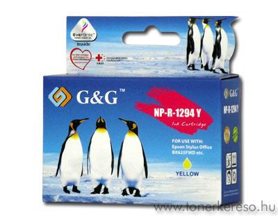 Epson T1294 yellow kompatibilis/utángyártott tintapatron G&G GGT Epson Stylus SX230 tintasugaras nyomtatóhoz