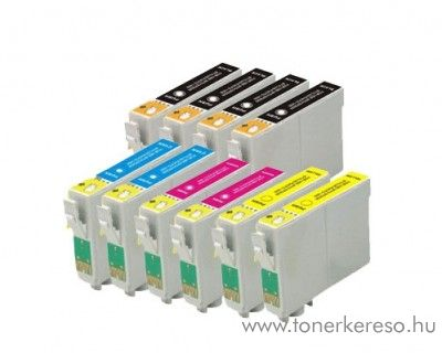 Epson T129X utángyártott tintapatron csomag 10 db-os Epson Stylus Office BX535WD tintasugaras nyomtatóhoz