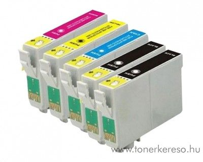 Epson T129X utángyártott tintapatron csomag 5 db-os OBET129XMP5 Epson Stylus SX420W tintasugaras nyomtatóhoz