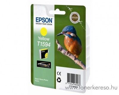 Epson T1594 eredeti yellow tintapatron C13T15944010 Epson Stylus Photo R2000 tintasugaras nyomtatóhoz