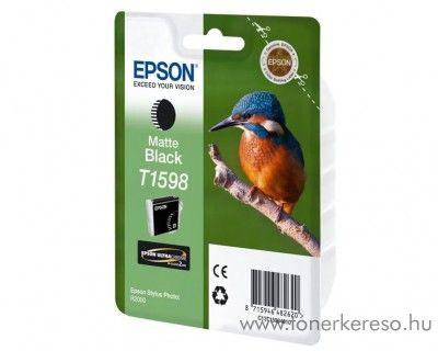 Epson T1598 eredeti matt fekete black tintapatron C13T15984010
