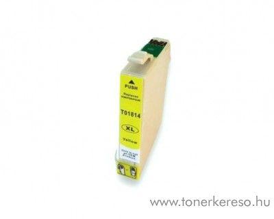Epson T1814 utángyártott 18XL yellow tintapatron RBT1814 Epson Expression Home XP-405WH tintasugaras nyomtatóhoz