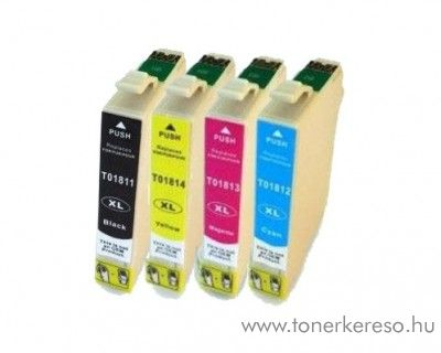 Epson T1815 utángyártott 18XL BKCMY tintapatron csomag RBT1815 Epson Expression Home XP-312 tintasugaras nyomtatóhoz