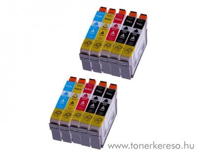 Epson T181X 10 db-os utángyártott patroncsomag (10 multipack) Epson Expression Home XP-302 tintasugaras nyomtatóhoz