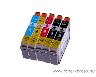 Epson T181X 5 db-os utángyártott patroncsomag OBET181XMP5 Epson Expression Home XP-212 tintasugaras nyomtatóhoz