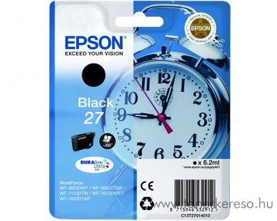Epson T2701 eredeti fekete tintapatron C13T27014010 Epson WorkForce WF-7620DTWF tintasugaras nyomtatóhoz