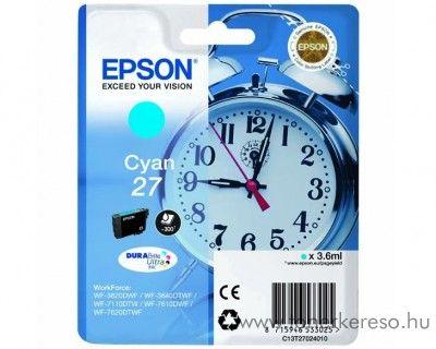Epson T2702 eredeti cyan tintapatron C13T27024010 Epson WorkForce WF-3620DWF tintasugaras nyomtatóhoz