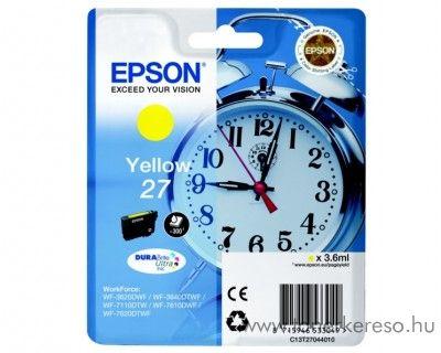 Epson T2704 eredeti yellow tintapatron C13T27044010 Epson WorkForce WF-3620DWF tintasugaras nyomtatóhoz