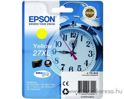 Epson T2714 eredeti yellow XL tintapatron C13T27144010 Epson WorkForce WF-3620DWF tintasugaras nyomtatóhoz