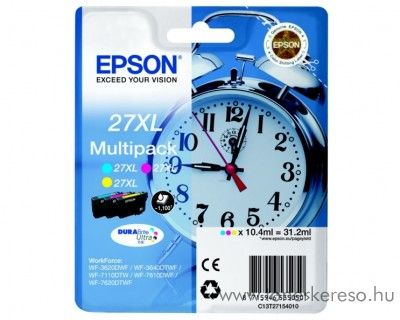 Epson T2715 eredeti XL tintapatron multipack C13T27154010 Epson WorkForce WF-7620DTWF tintasugaras nyomtatóhoz