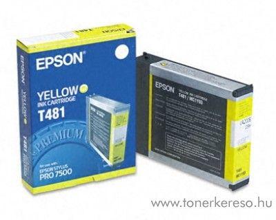 Epson T481 eredeti yellow tintapatron C13T481011