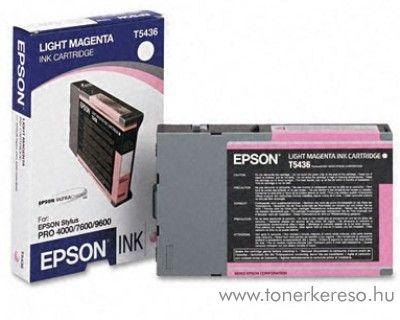 Epson T5436 eredeti light magenta tintapatron C13T543600 Epson Stylus Pro 4000-C8 tintasugaras nyomtatóhoz