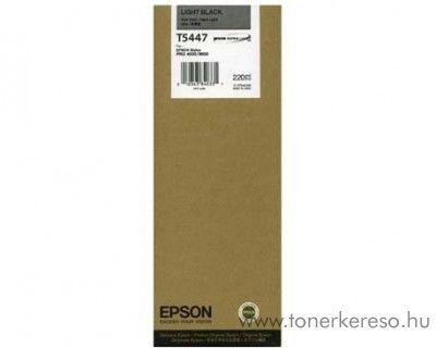 Epson T5447 eredeti light black nagykap. tintapatron C13T544700 Epson Stylus Pro 4000-C8 tintasugaras nyomtatóhoz