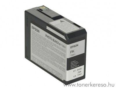 Epson T5801 eredeti photo fekete black tintapatron C13T580100 Epson Stylus Pro 3880 Designer Edition tintasugaras nyomtatóhoz