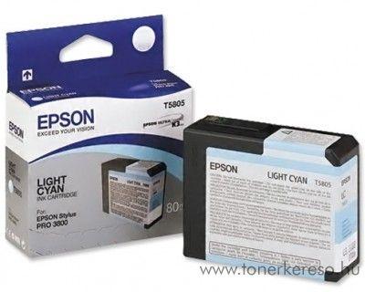 Epson T5805 eredeti light cyan tintapatron C13T580500 Epson Stylus Pro 3880 Designer Edition tintasugaras nyomtatóhoz