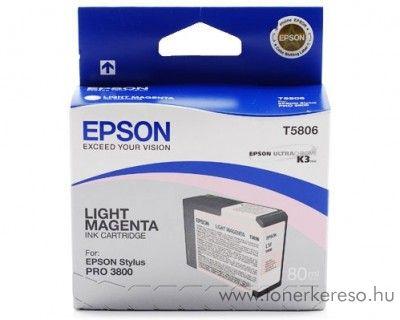 Epson T5806 eredeti light magenta tintapatron C13T580600 Epson Stylus Pro 3800 tintasugaras nyomtatóhoz