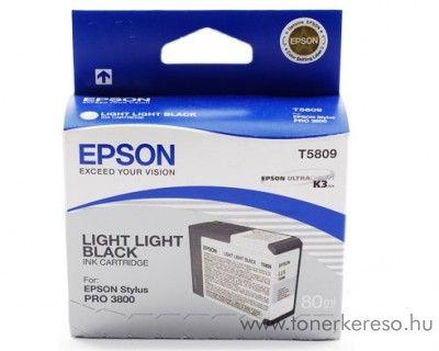Epson T5809 eredeti light light black tintapatron C13T580900 Epson Stylus Pro 3880 tintasugaras nyomtatóhoz