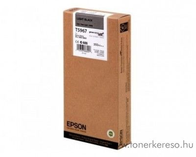 Epson T5967 eredeti light black tintapatron C13T596700