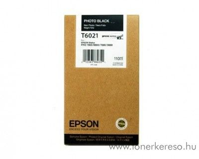 Epson T6021 eredeti photo fekete black tintapatron C13T602100 Epson Stylus Pro 7800 Xrite Eye One Pro Epson Edition tintasugaras nyomtatóhoz
