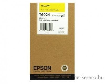Epson T6024 eredeti yellow tintapatron C13T602400 Epson Stylus Pro 9800 tintasugaras nyomtatóhoz