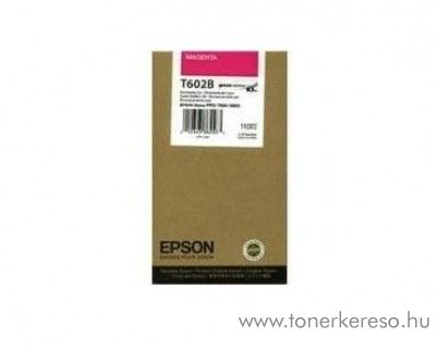 Epson T602B eredeti magenta tintapatron C13T602B00 Epson Stylus Pro 7800 Xrite Eye One Pro Epson Edition tintasugaras nyomtatóhoz