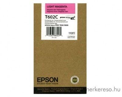 Epson T602C eredeti light magenta tintapatron C13T602C00 Epson Stylus Pro 7800 Xrite Eye One Pro Epson Edition tintasugaras nyomtatóhoz
