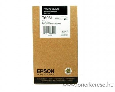 Epson T6031 eredeti photo fekete black tintapatron C13T603100 Epson Stylus Pro 9800 tintasugaras nyomtatóhoz