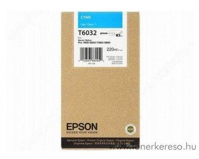 Epson T6032 eredeti cyan nagykap. tintapatron C13T603200