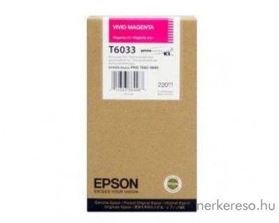 Epson T6033 eredeti photo magenta tintapatron C13T603300 Epson Stylus Pro 7880 tintasugaras nyomtatóhoz