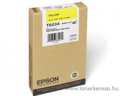 Epson T6034 eredeti yellow nagykap. tintapatron C13T603400 Epson Stylus Pro 7800 Xrite Eye One Pro Epson Edition tintasugaras nyomtatóhoz