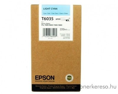 Epson T6035 light cyan eredeti nagykap. tintapatron C13T603500 Epson Stylus Pro 7800 Xrite Eye One Pro Epson Edition tintasugaras nyomtatóhoz