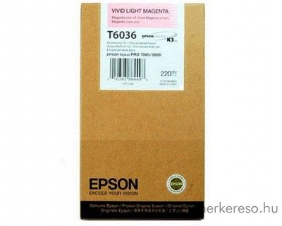 Epson T6036 eredeti photo light magenta tintapatron C13T603600