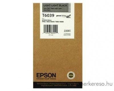 Epson T6039 eredeti light light black tintapatron C13T603900 Epson Stylus Pro 7800 Xrite Eye One Pro Epson Edition tintasugaras nyomtatóhoz