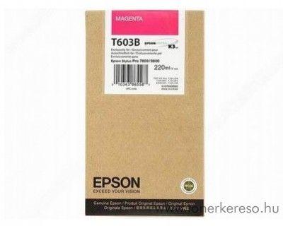 Epson T603B eredeti magenta nagykap. tintapatron C13T603B00 Epson Stylus Pro 9800 Xrite Eye One Pro Epson Edition tintasugaras nyomtatóhoz