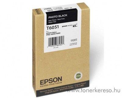 Epson T6051 eredeti photo fekete black tintapatron C13T605100 Epson Stylus Pro 4800 tintasugaras nyomtatóhoz