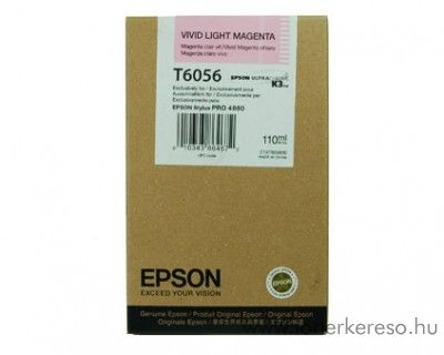Epson T6056 eredeti photo light magenta tintapatron C13T605600
