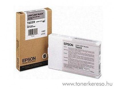Epson T6059 eredeti light light black tintapatron C13T605900 Epson Stylus Pro 4880 tintasugaras nyomtatóhoz