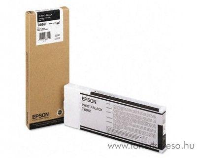 Epson T6061 eredeti photo fekete black tintapatron C13T606100 Epson Stylus Pro 4880 tintasugaras nyomtatóhoz