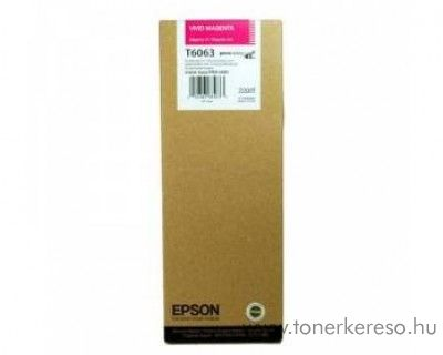 Epson T6063 eredeti photo magenta tintapatron C13T606300 Epson Stylus Pro 4880 tintasugaras nyomtatóhoz
