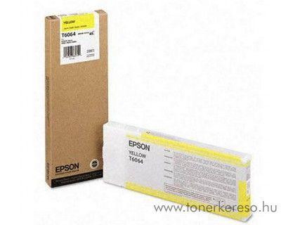 Epson T6064 eredeti yellow tintapatron C13T606400 Epson Stylus Pro 4800 tintasugaras nyomtatóhoz
