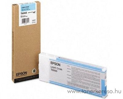 Epson T6065 eredeti light cyan tintapatron C13T606500 Epson Stylus Pro 4800 tintasugaras nyomtatóhoz