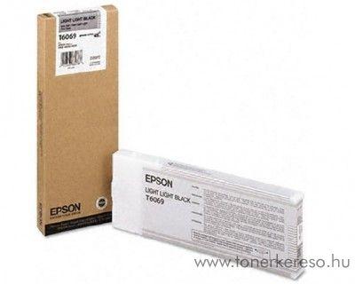 Epson T6069 eredeti light light black tintapatron C13T606900 Epson Stylus Pro 4800 tintasugaras nyomtatóhoz