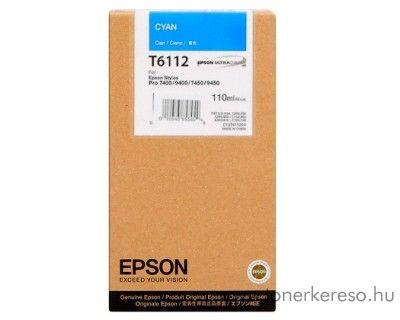 Epson T6112 eredeti cyan tintapatron C13T611200