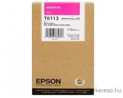 Epson T6113 eredeti magenta tintapatron C13T611300 Epson Stylus Pro 7400 tintasugaras nyomtatóhoz
