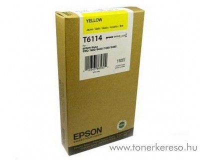 Epson T6114 eredeti yellow tintapatron C13T611400 Epson Stylus Pro 7400 tintasugaras nyomtatóhoz