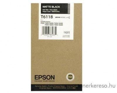 Epson T6118 eredeti matt fekete black tintapatron C13T611800 Epson Stylus Pro 7400 tintasugaras nyomtatóhoz