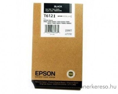 Epson T6121 eredeti photo fekete black tintapatron C13T612100 Epson Stylus Pro 7400 Photo Black Edition tintasugaras nyomtatóhoz